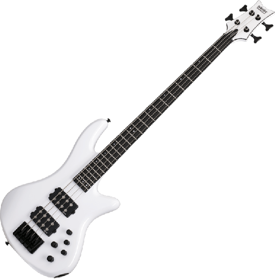 Schecter Stiletto Stage-4 Electric Bass Gloss White, 2480