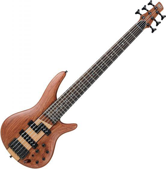 Ibanez SR Standard SR756 6 String Electric Bass Natural Flat[, SR756NTF]