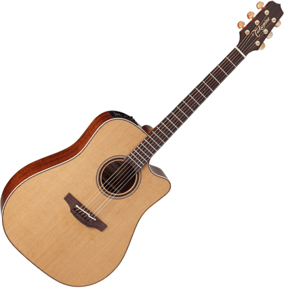 Takamine CP3DC-OV Dreadnought Acoustic Electric Guitar Satin Natural, TAKCP3DCOV