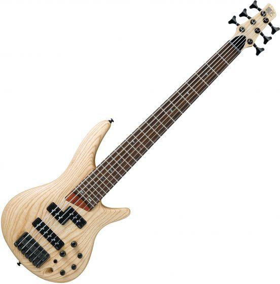 Ibanez SR Standard SR656 6 String Electic Bass Natural Flat[, SR656NTF]