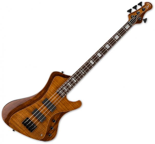 ESP LTD Stream-1004 Flamed Maple Electric Bass Walnut Brown, LSTREAM1004FMWBR