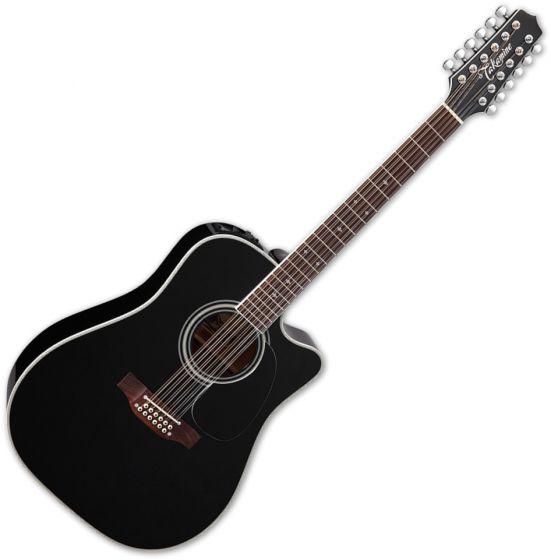 Takamine EF381SC Legacy Series 12 String Acoustic Guitar in Gloss Black Finish, TAKEF381SC