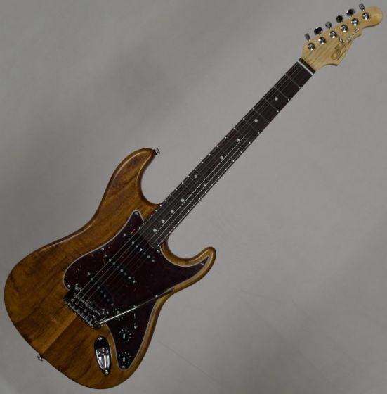 G&L Legacy USA Custom Monkey Pod Electric Guitar in Natural Satin Finish, G&L USA Legacy Monkey Pod
