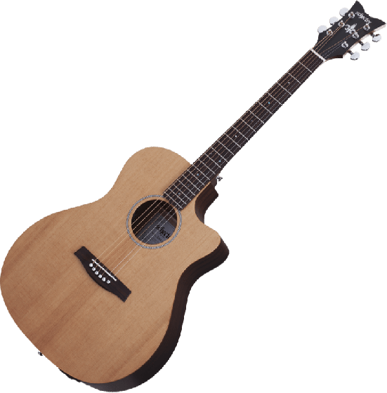 Schecter Deluxe Acoustic Guitar in Natural Satin Finish[, 3715]