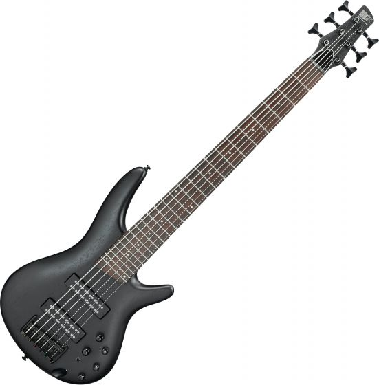 Ibanez SR Standard SR306EB 6 String Electric Bass Weathered Black, SR306EBWK