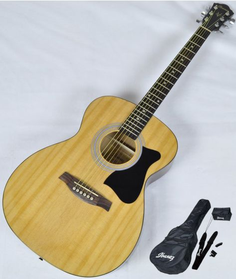 Ibanez IJVC50 JAMPACK Acoustic Guitar Package in Natural High Gloss Finish, IJVC50.B