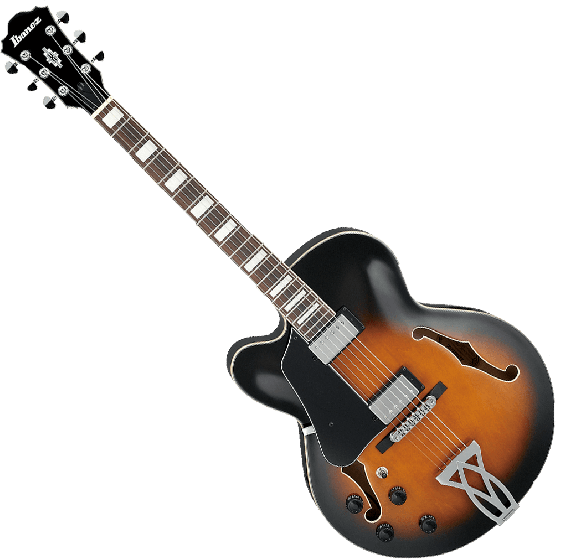 Ibanez Artcore AF75LVSB Left-Handed Hollow Body Electric Guitar in Vintage Sunburst Finish[, AF75LVSB]