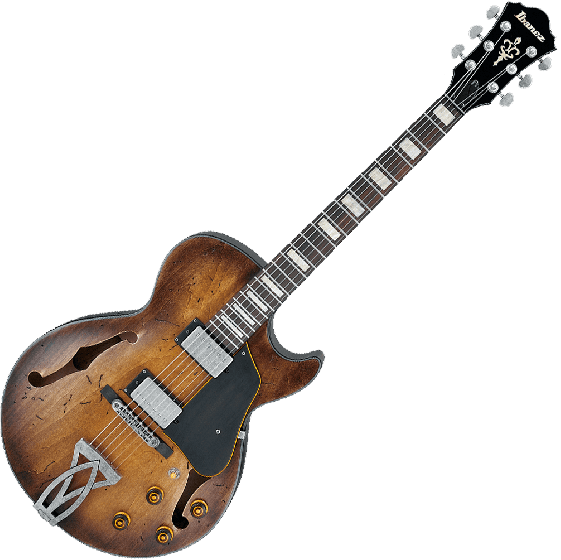 Ibanez Artcore Vintage ASV10A Semi-Hollow Electric Guitar in Tobacco Burst Low Gloss, ASV10ATCL