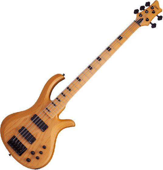 Schecter Riot-5 Session Electric Bass in Aged Natural Gloss Finish[, 2853]