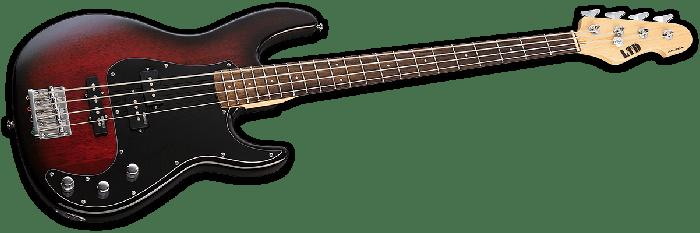 ESP LTD AP-204 Electric Bass in Burgundy Burst, LTD AP-204 BGB