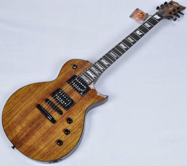 ESP LTD Deluxe EC-1000 KOA Top Guitar in Natural B-Stock, LEC1000KNAT