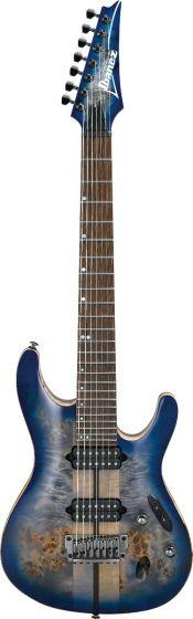 Ibanez S Premium 7 String Cerulean Blue Burst S1027PBF CLB Electric Guitar w/Case, S1027PBFCLB