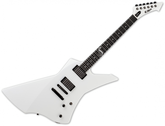 ESP James Hetfield Snakebyte Signature Electric Guitar Snow White, ESNAKEBYTESW