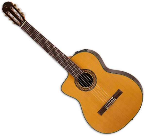 Takamine TC132SC Left Handed Classical Acoustic Electric Guitar in Natural Gloss Finish, TAKTC132SCLH