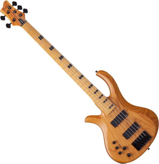Schecter Session Riot-5 Left-Handed Electric Bass in Aged Natural Finish[, 2857]