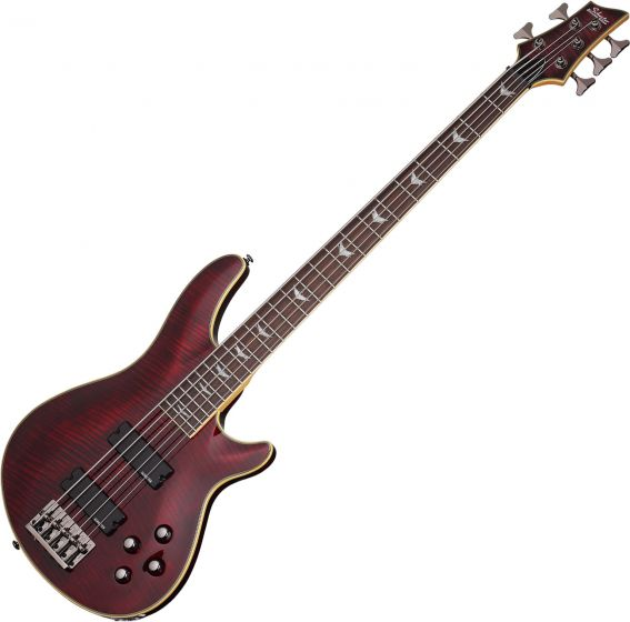 Schecter Omen Extreme-5 Electric Bass in Black Cherry Finish, 2041