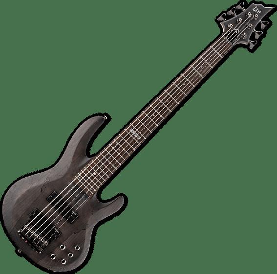 ESP LTD B-206SM Electric Bass in See Thru Black Satin, B-206SM-STBLKS