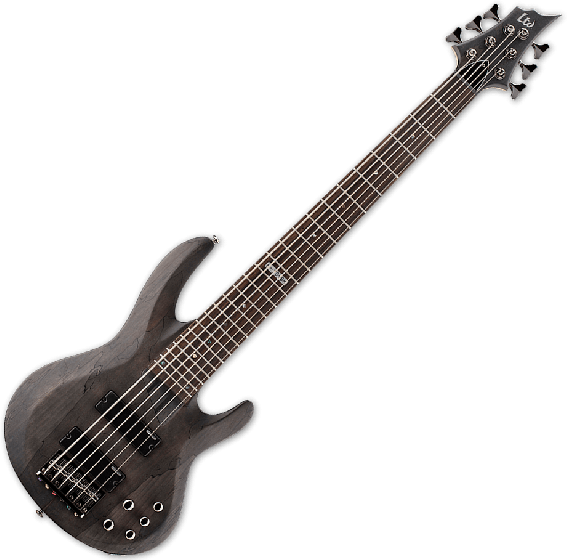 ESP LTD B-206SM Electric Bass in See Thru Black Satin B-Stock, B-206SM-STBLKS.B