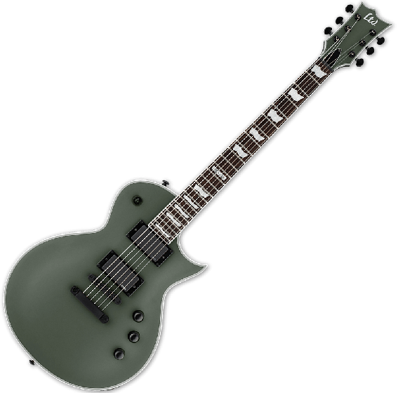 ESP LTD EC-401 Electric Guitar in Military Green Satin, LTD EC-401 MGS