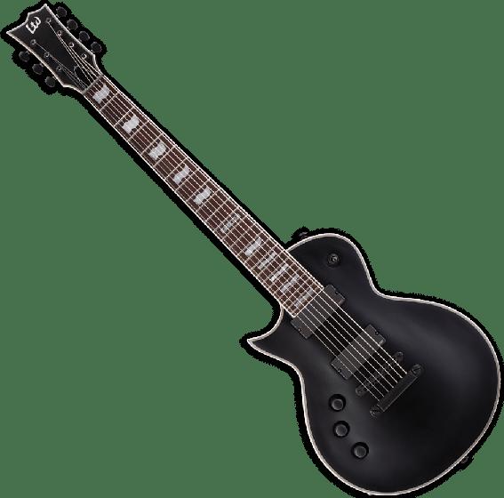 ESP LTD EC-407 7 Strings Left Handed Electric Guitar in Black Satin B-Stock, EC-407 BLKS LH