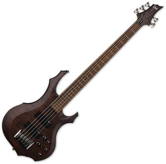 ESP LTD F-205FM Electric Bass Walnut Brown Satin[, LF205FMWBS]
