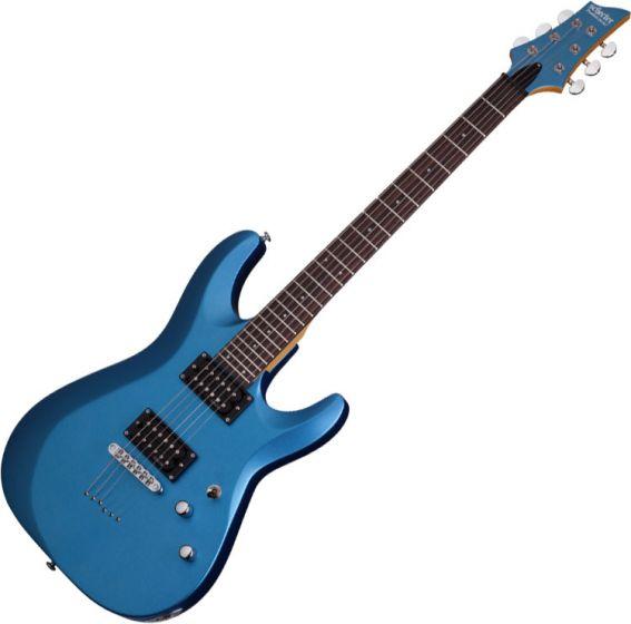 Schecter C-6 Deluxe Electric Guitar Satin Metallic Light Blue, 431