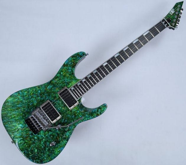 ESP M-II 2016 Exhibition Japan Custom Shop Guitar in Liquid JEM Green Finish, M-II Liquid JEM Green