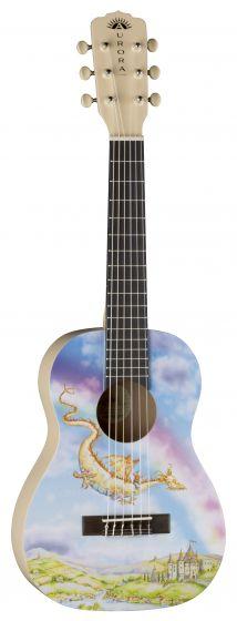 Luna Aurora 1/2 Nylon Acoustic Guitar Dragon AR2 NYL DRAGON, AR2 NYL DRAGON