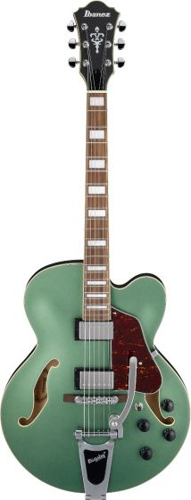 Ibanez AFS75T MGF AFS Artcore 6 String Metallic Green Flat Semi Hollow Body Electric Guitar[, AFS75TMGF]