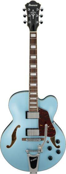 Ibanez AFS75T STF AFS Artcore 6 String Steel Blue Flat Semi Hollow Body Electric Guitar[, AFS75TSTF]