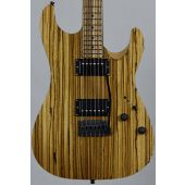 Schecter Masterworks Sunset Custom-II Zebrawood Electric Guitar Gloss Natural