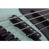 Schecter J-4 Electric Bass in Sea foam Green
