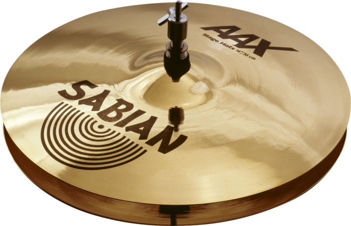"Sabian 14"" AAX Stage Hats Brilliant Finish, 21402XB"