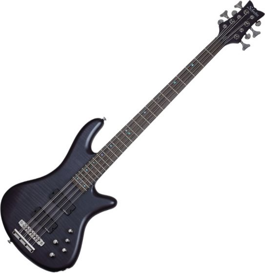 Schecter Stiletto Studio-8 Electric Bass See-Thru Black Satin, 2742