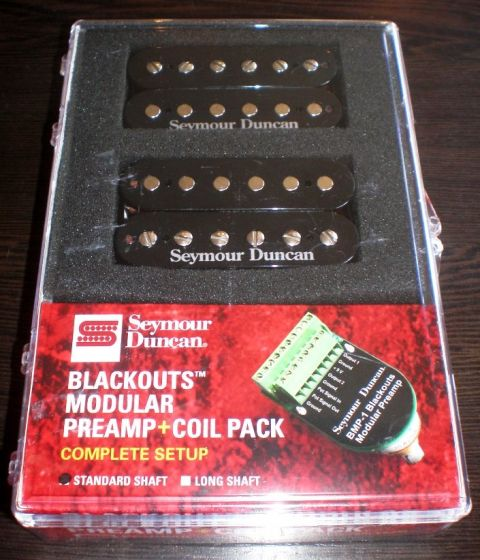 Seymour Duncan AHB-10S Blackouts Modular Preamp Full Set(Black), 11106-62-B