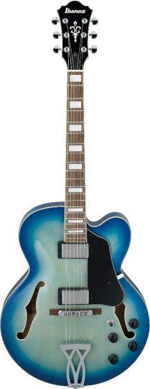 Ibanez AF Artcore Jet Blue Burst AF75 JBB Hollow Body Electric Guitar, AF75JBB