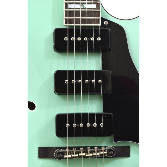 Dean Palomino Hollow Body Electric Guitar Sea Green 6 String Com