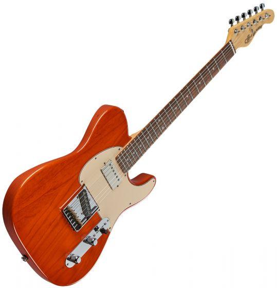 G&L ASAT Classic Bluesboy USA Fullerton Deluxe in Clear Orange Rosewood, FD-ASTCB-ORG-CR
