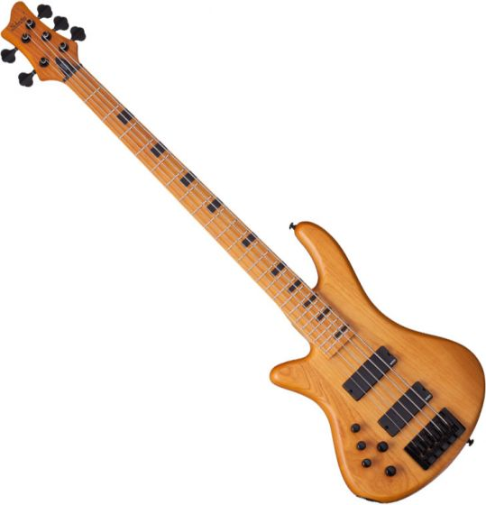 Schecter Session Stiletto-5 Left-Handed Electric Bass in Aged Natural Finish, 2855