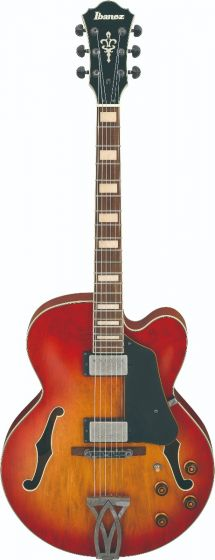 Ibanez AFV75 VAL AFV Artcore Vintage Amber Burst Low Gloss Hollow Body Electric Guitar, AFV75VAL