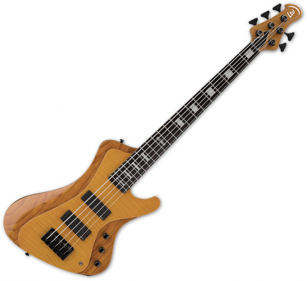 ESP LTD Stream-1005 Flamed Maple 5 String Electric Bass Honey Natural, LSTREAM1005FMHN