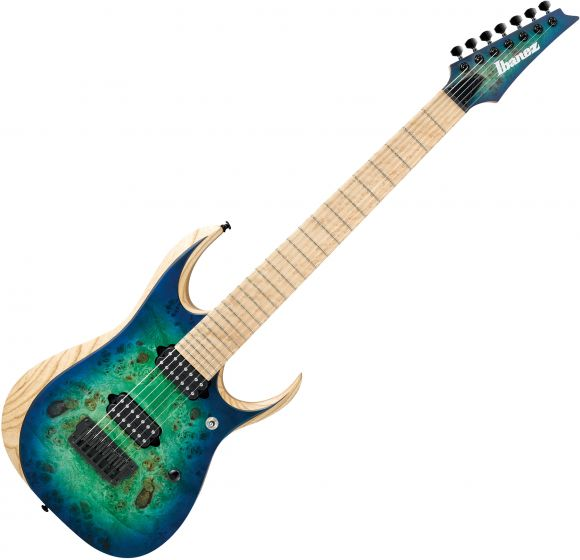Ibanez RGD Iron Label RGDIX7MPB 7 String Electric Guitar Surreal Blue Burst, RGDIX7MPBSBB