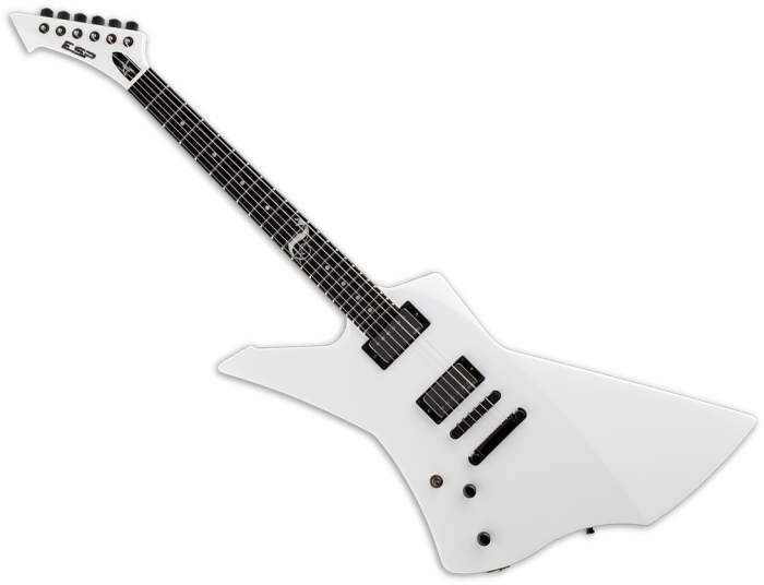 ESP James Hetfield Snakebyte Signature Left-Handed Electric Guitar Snow White, ESNAKEBYTESWLH