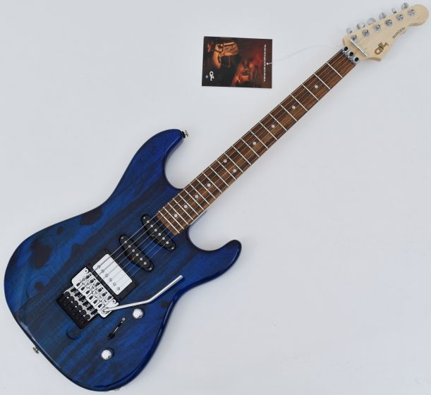 G&L USA Invader Spalted Alder Top Electric Guitar in Clear Blue. Brand New!, USA INVADER CLF1803171