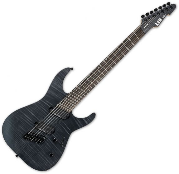 ESP LTD M-1007 Multi-Scale Electric Guitar See Thru Black Satin, LM1007MSSTBLKS