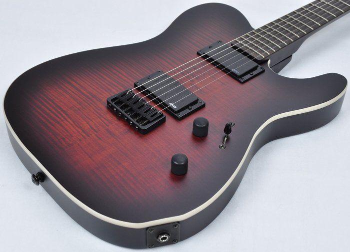 ESP LTD TE-406 FM Electric Guitar in Dark Brown Sunburst Satin, LTD TE-406FM DBSBS