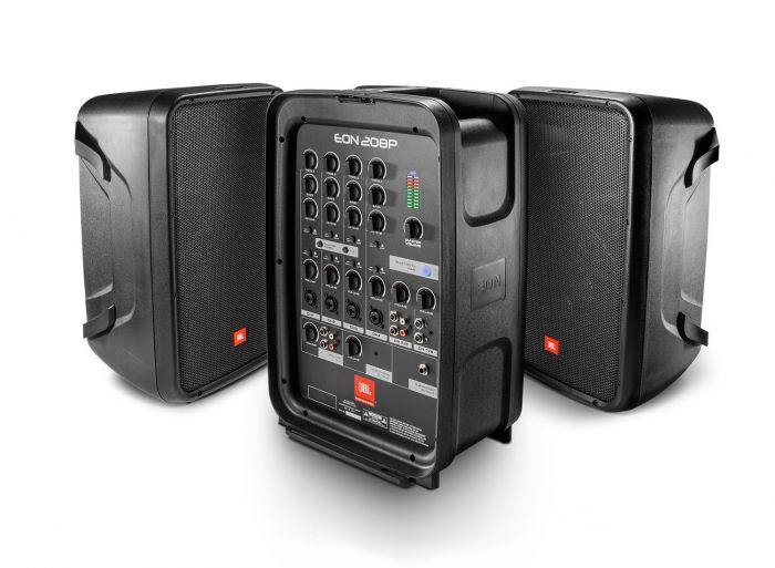 JBL EON208P Portable 8 Two-Way PA with Powered 8-Channel Mixer and Bluetooth, EON208P