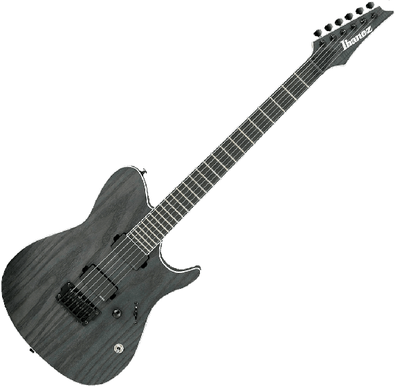 Ibaenz FR IRON LABEL FRIX6FEAH Electric Guitar in Charcoal Stained Flat, FRIX6FEAHCSF