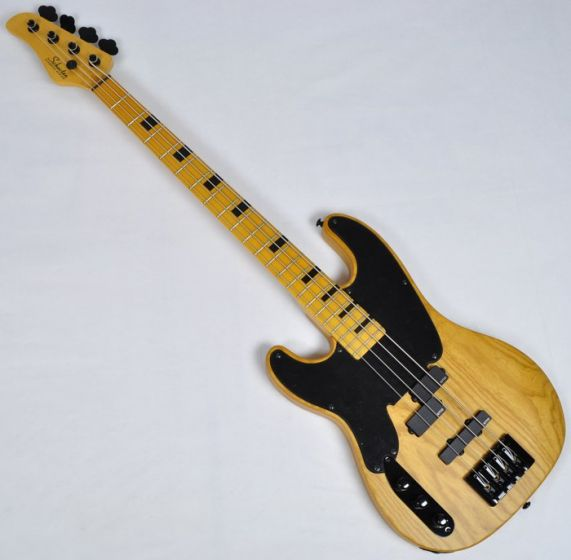 Schecter Model-T Session Left-Handed Electric Bass Guitar in Aged Natural Finish, 2849