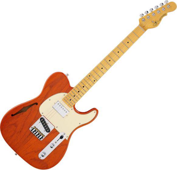 G&L Tribute ASAT Classic Bluesboy Semi-Hollow Electric Guitar Clear Orange, TI-ACB-S24R44M73